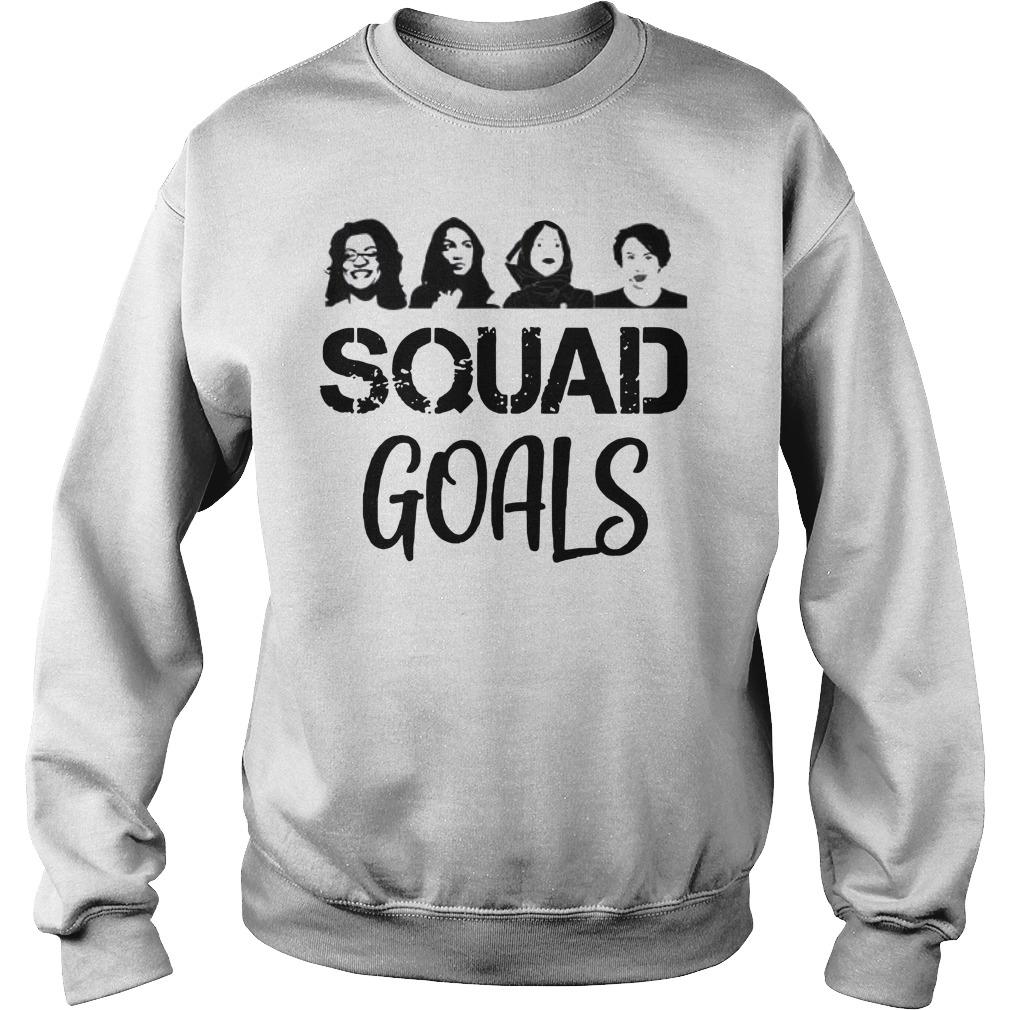 Feminist Squad Goals Ocasio Cortez Tlaib Pressley Omar Sweater