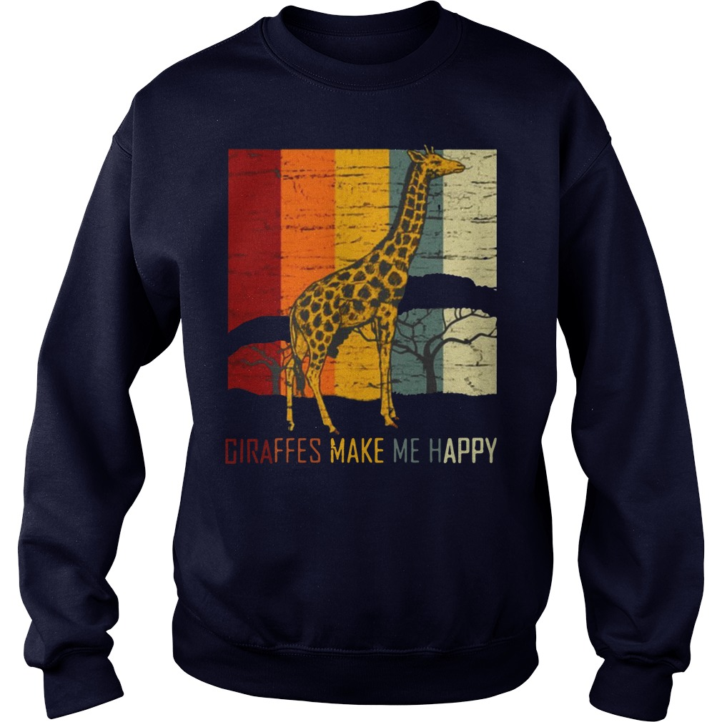 Giraffes make me happy zoo keeper animal gifts giraffe premium Sweater