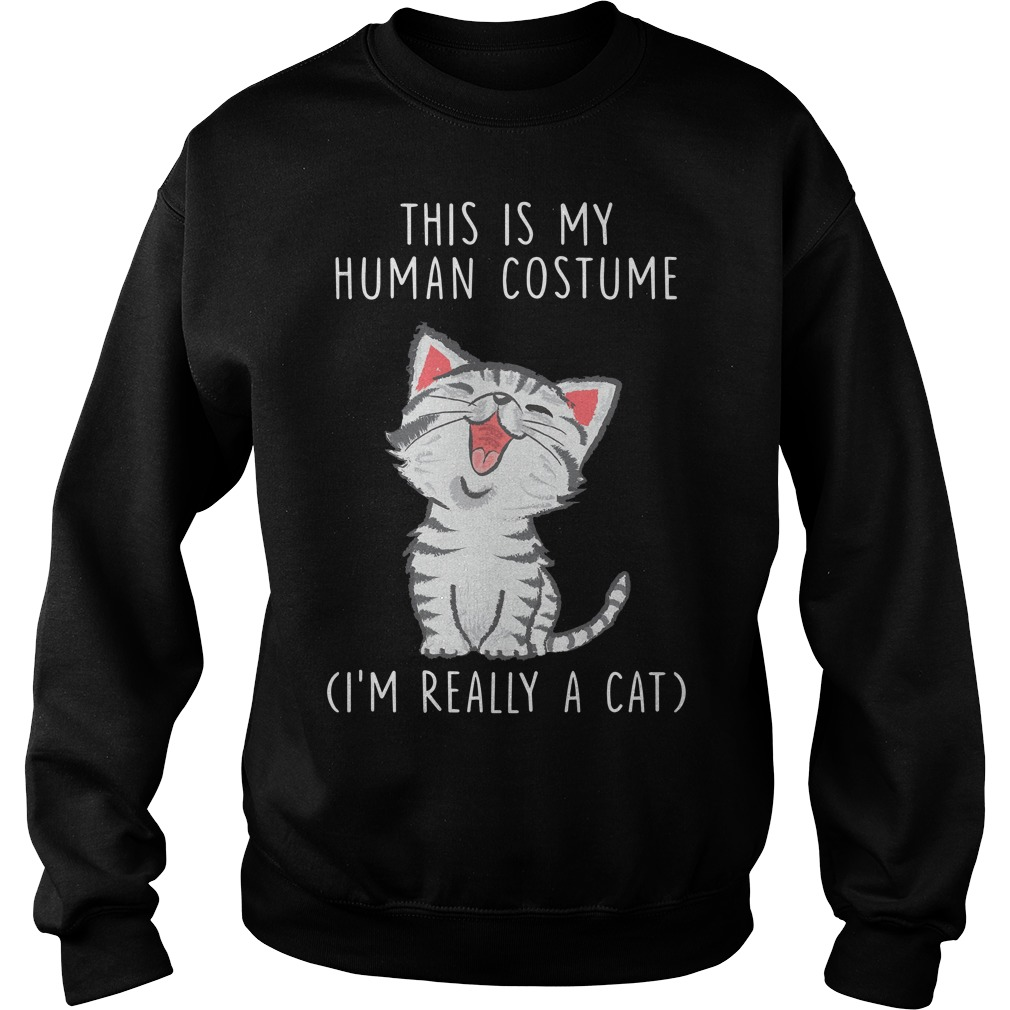 This is my human costume I'm really a cat Sweater