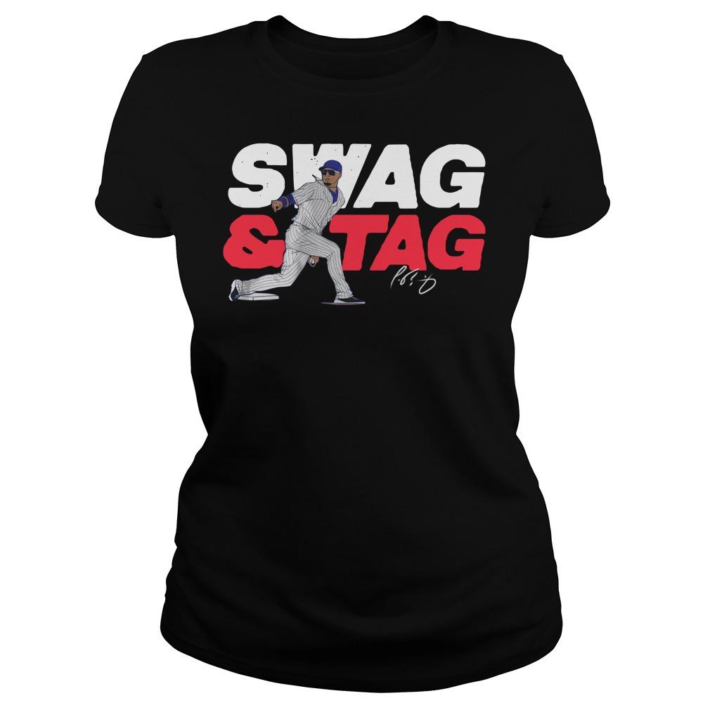 Javier baez swag tag Ladies t-shirt