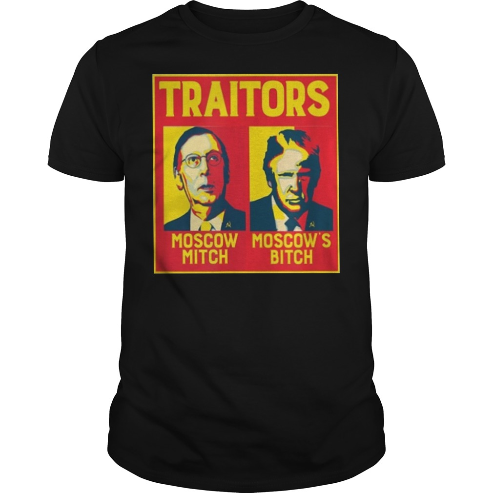 Moscow Mitch Traitors Guys t-shirt