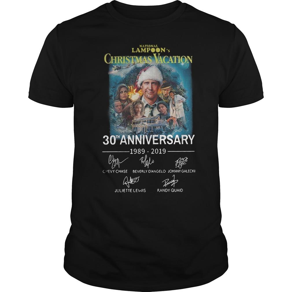 National Lampoon's Christmas Vacation 30th anniversary Guys t-shirt