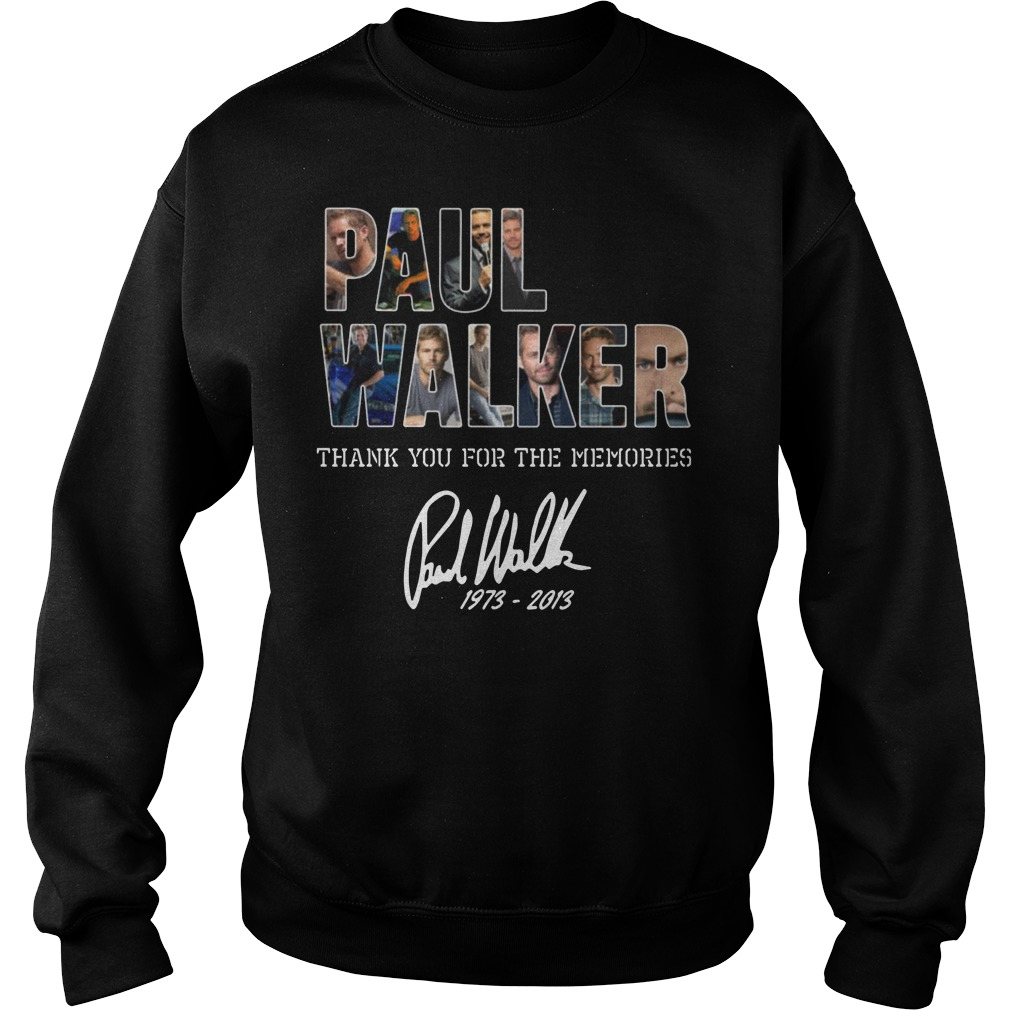 Paul Walker Thank you for the memories Sweater