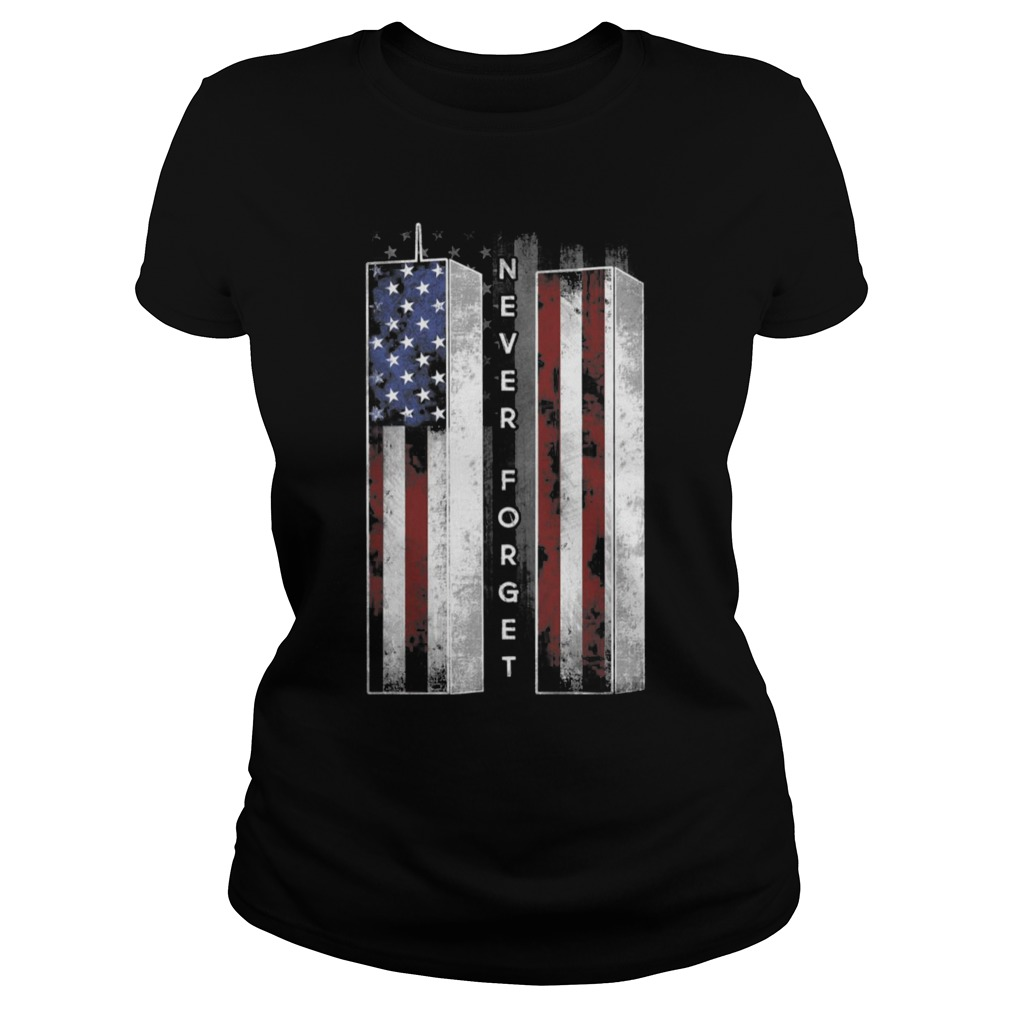 September 11 We will never forget Ladies t-shirt