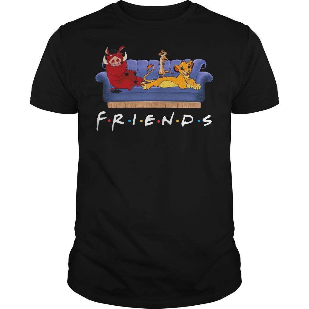 Simba Pumbaa And Timon Friends Guys t-shirt