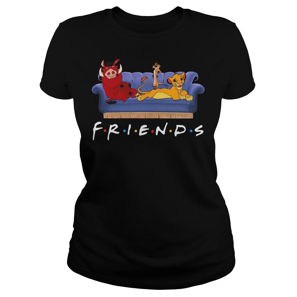 Simba Pumbaa And Timon Friends Ladies t-shirt