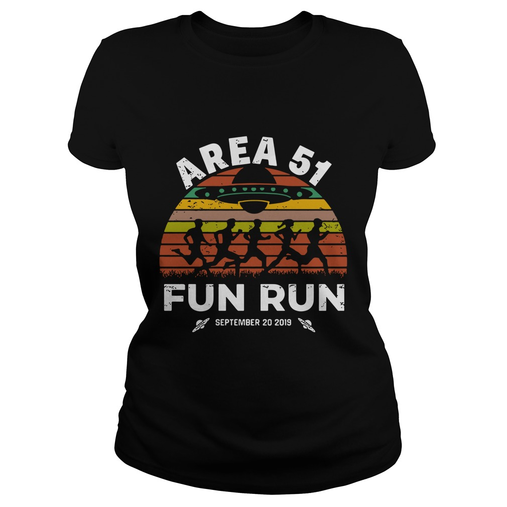 Storm Area 51 Fun Run September 20 2019 Vintage Ladies t-shirt
