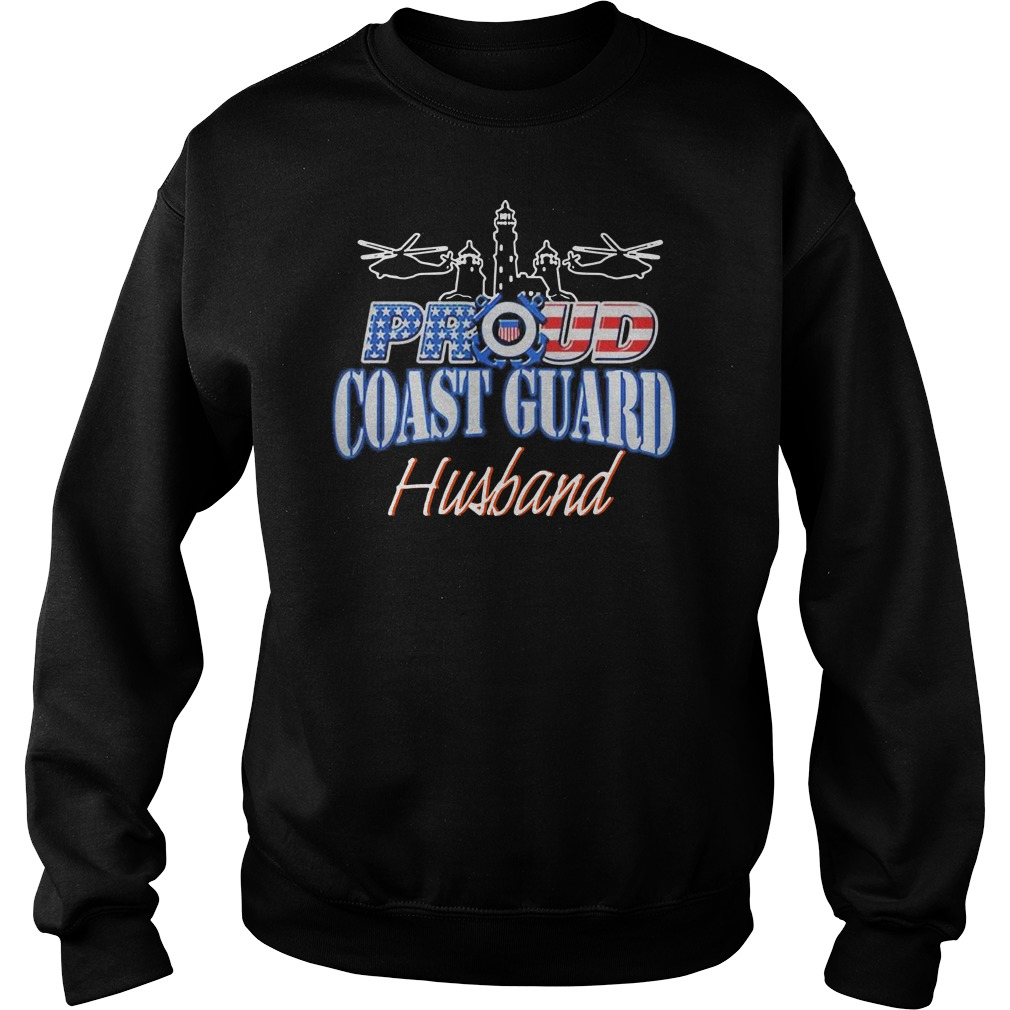 USA Proud Coast Guard Husband USA Flag Military Sweater