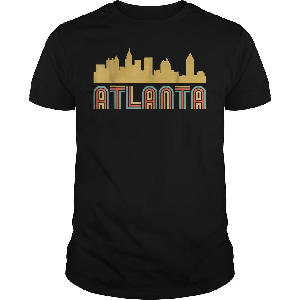 Vintage retro atlanta georgia skyline Guys t-shirt