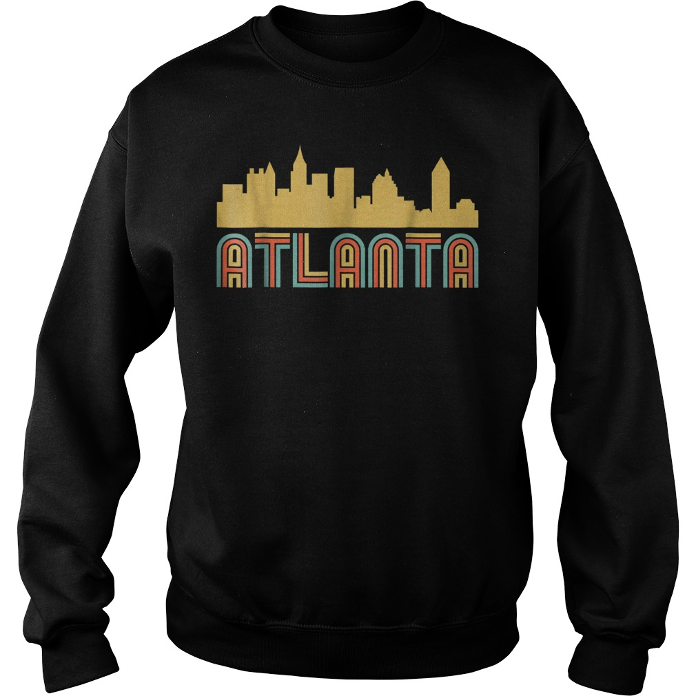 Vintage retro atlanta georgia skyline Sweater