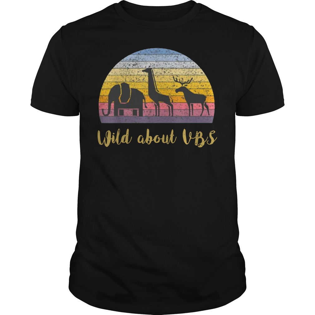 Wild about VBS animal Vintage Guys t-shirt