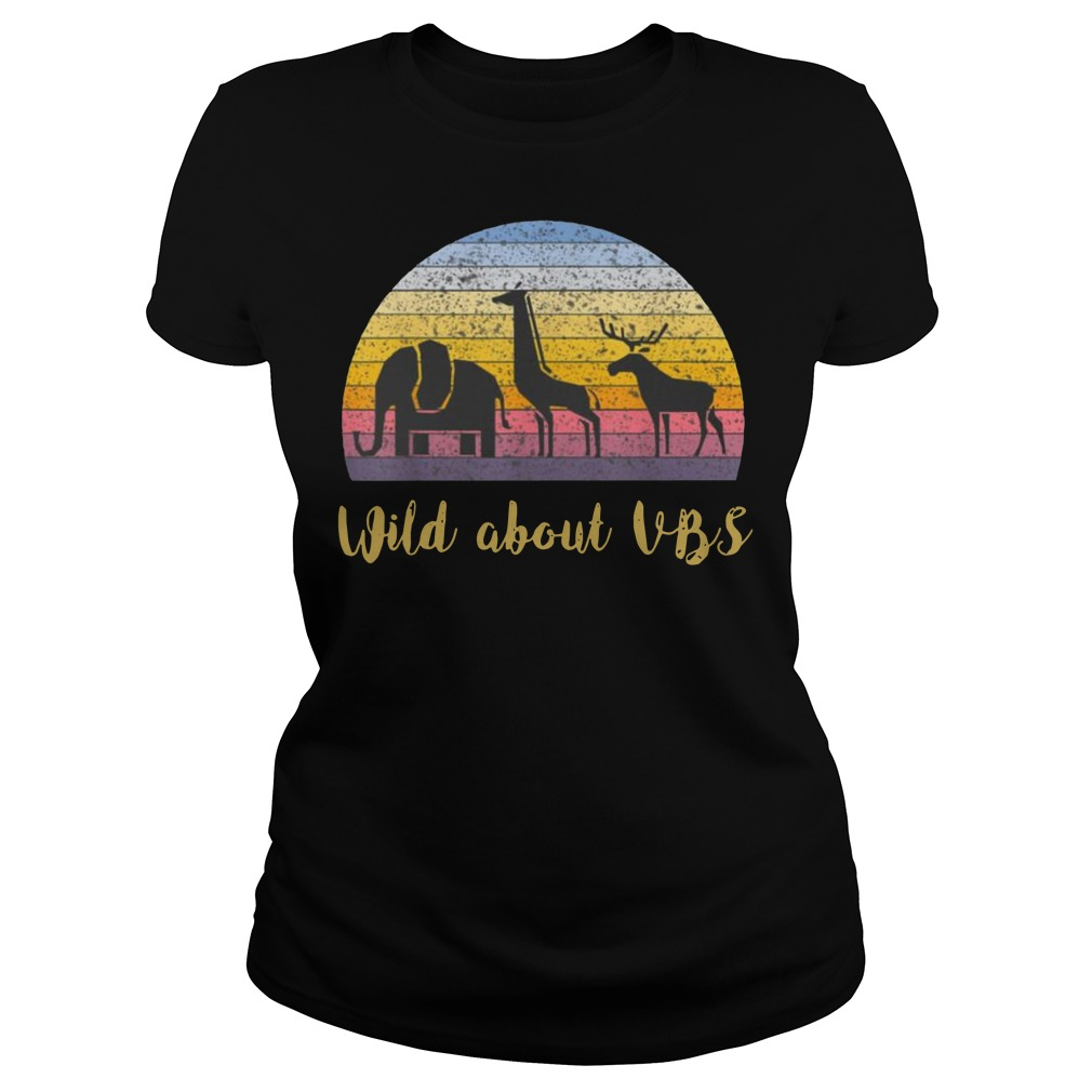 Wild about VBS animal Vintage Ladies t-shirt