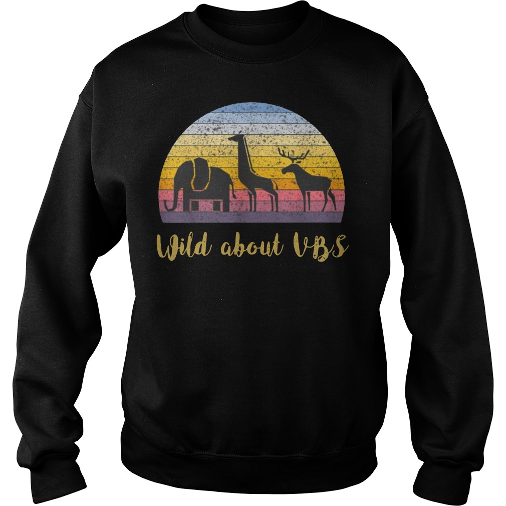Wild about VBS animal Vintage Sweater