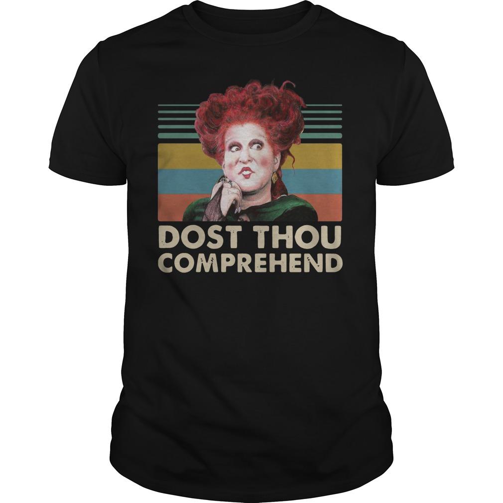 Winifred Sanderson Dost Thou Comprehend vintage Guys t-shirt