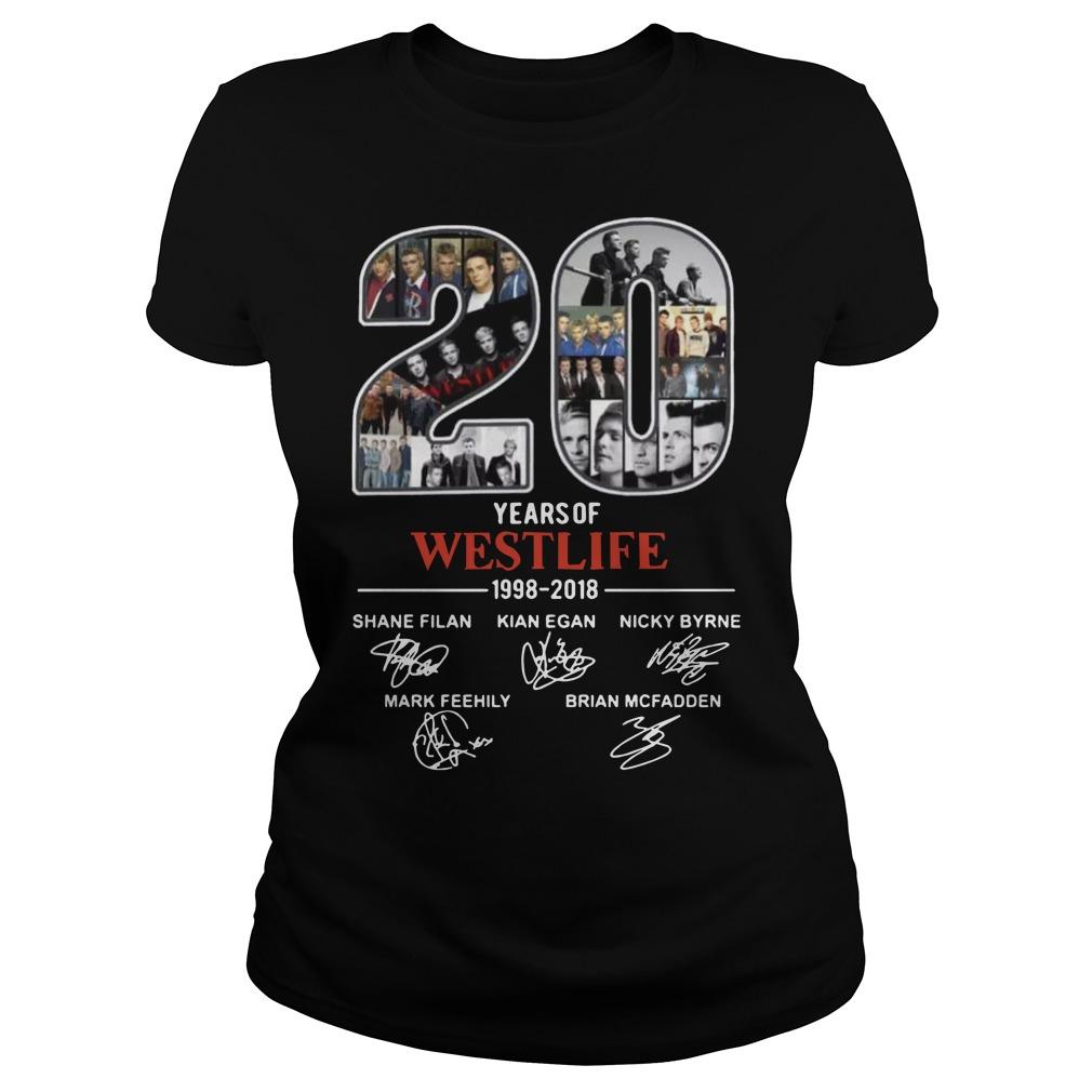 20 years of Westlife 1998 Ladies t-shirt