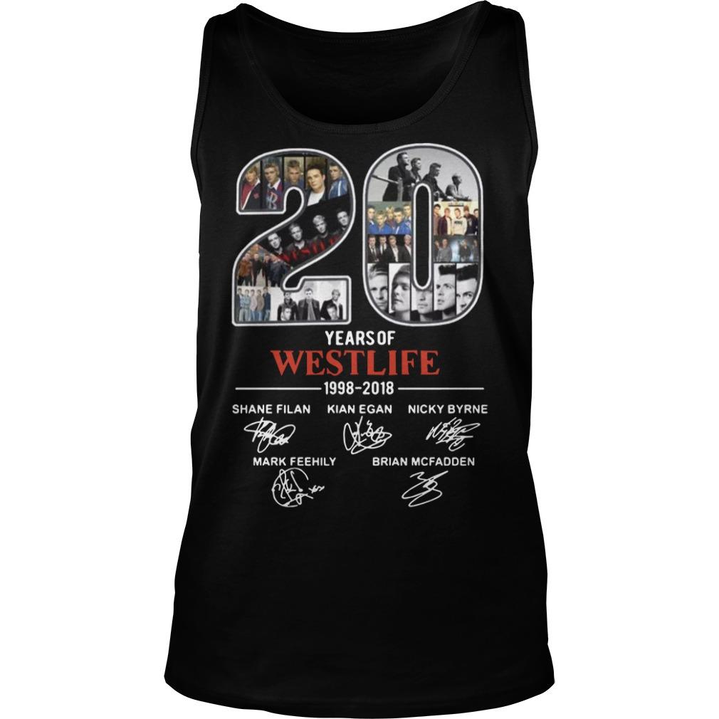 20 years of Westlife 1998 Tank top