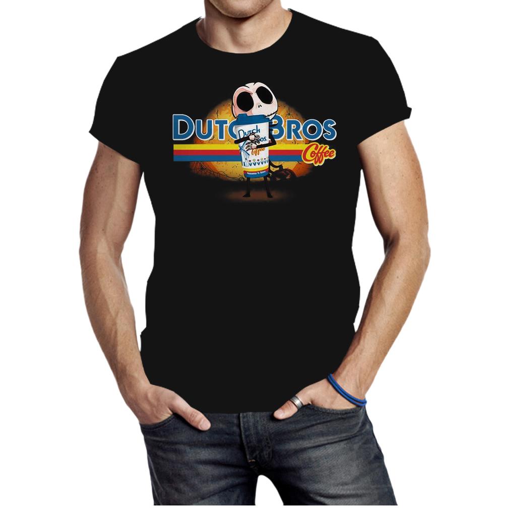 Jack Skellington hug Dutch Bros coffee Halloween shirt