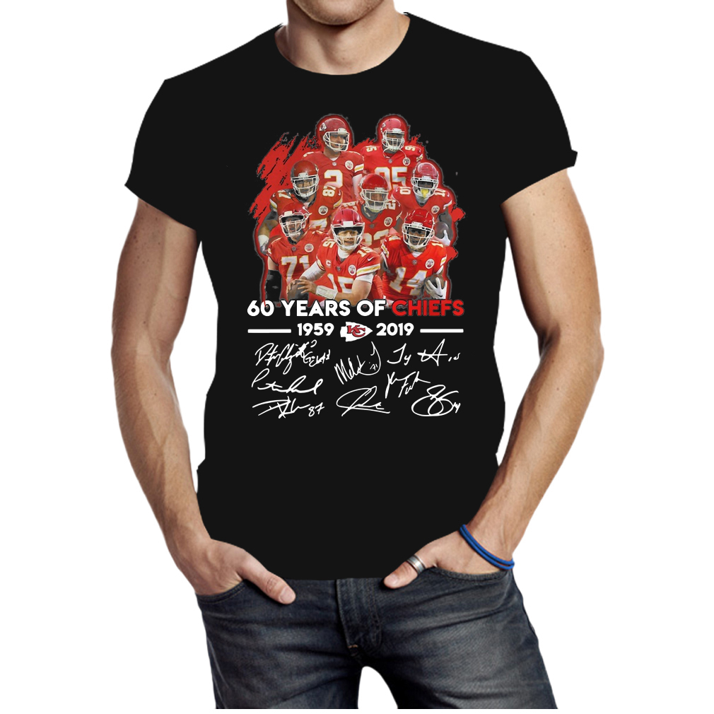 Kansas City Chiefs 60 years of Chiefs 1959-2019 signatures shirt