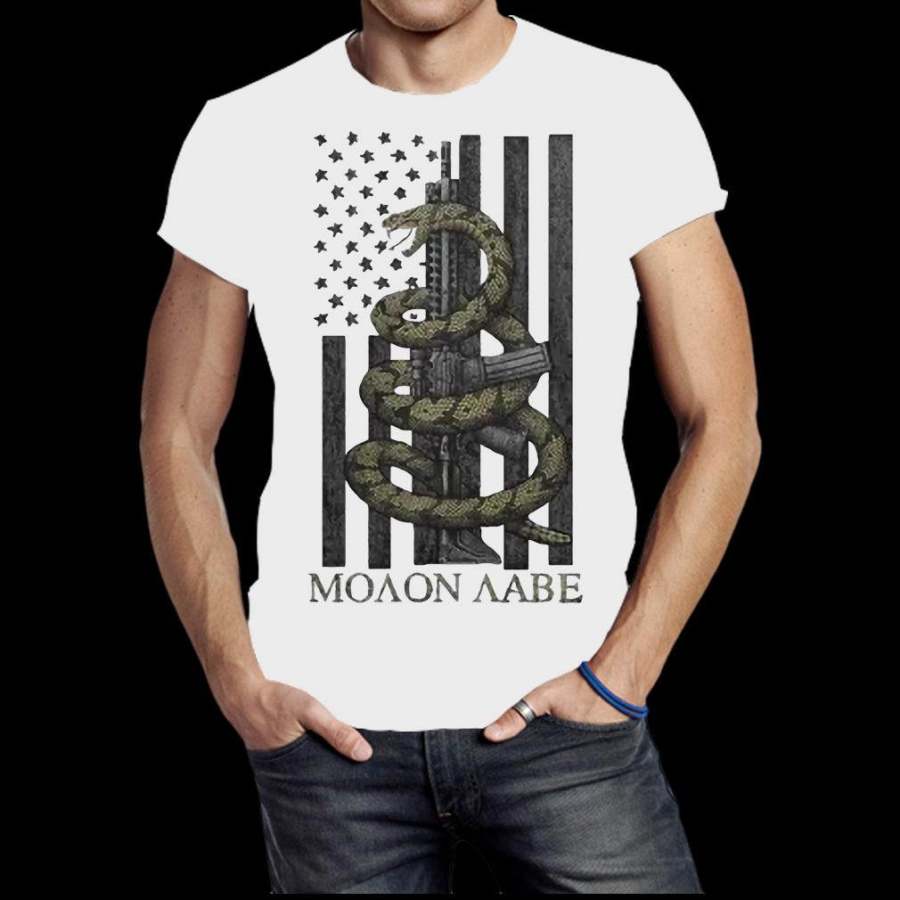 Nice Gadsden Snake Moaon Aabe American flag shirt