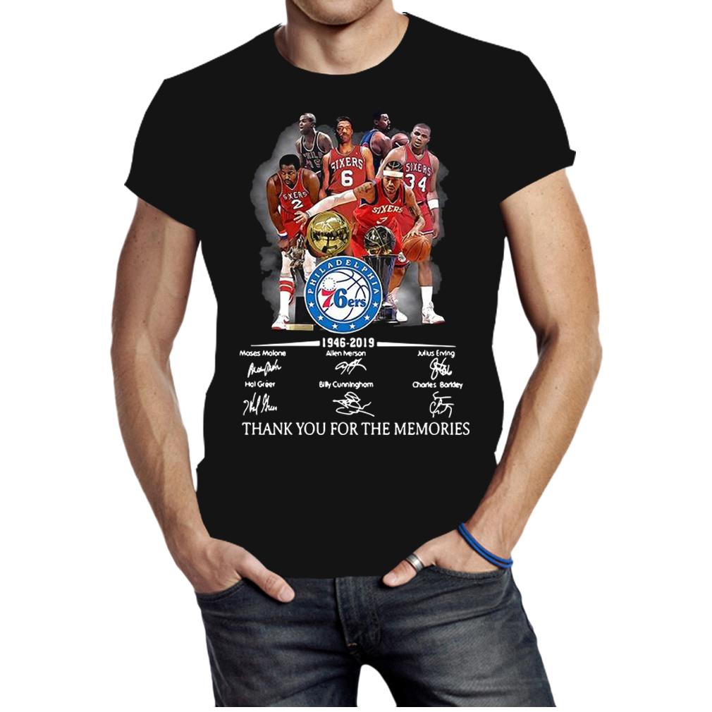 Philadelphia 76ers 1946 2019 thank you for the memories shirt