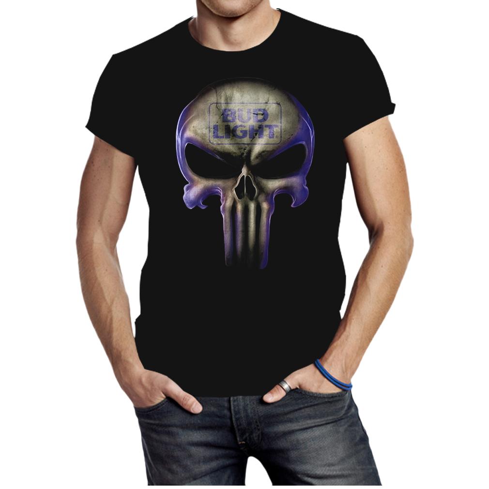 Skull Bud Light shirt