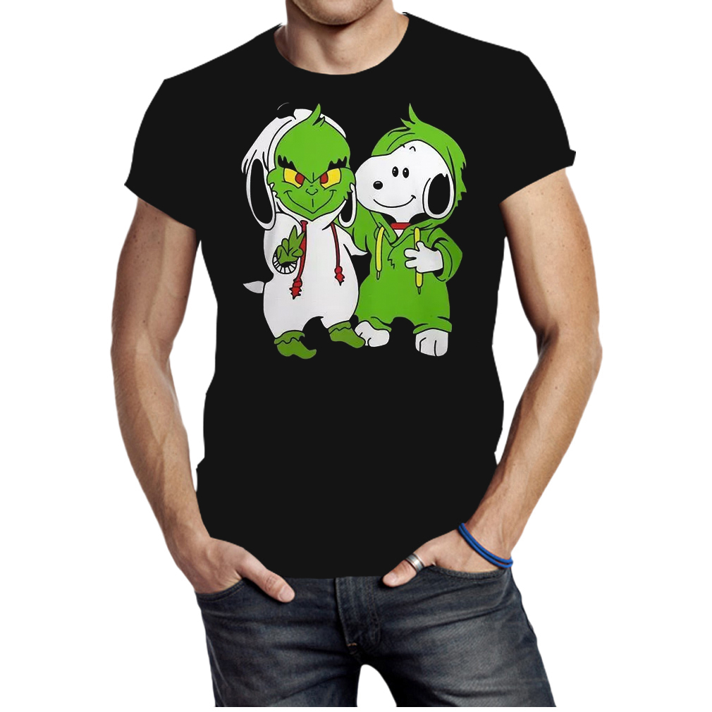 Snoopy and Grinch fushion peanuts how the Grinch stole Christmas fans shirt