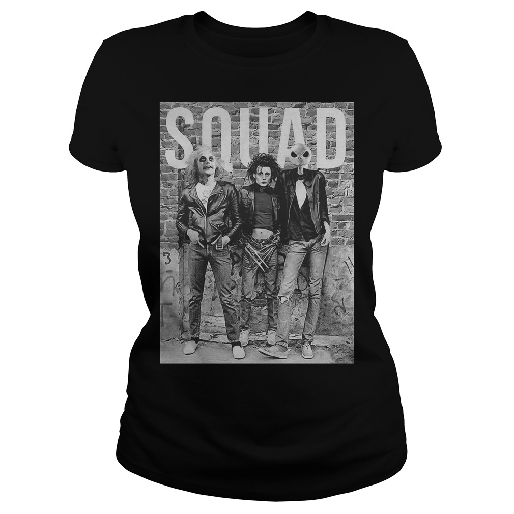 Beetlejuice Edward Scissorhands and Jack Skellington squad Guys t-shirt