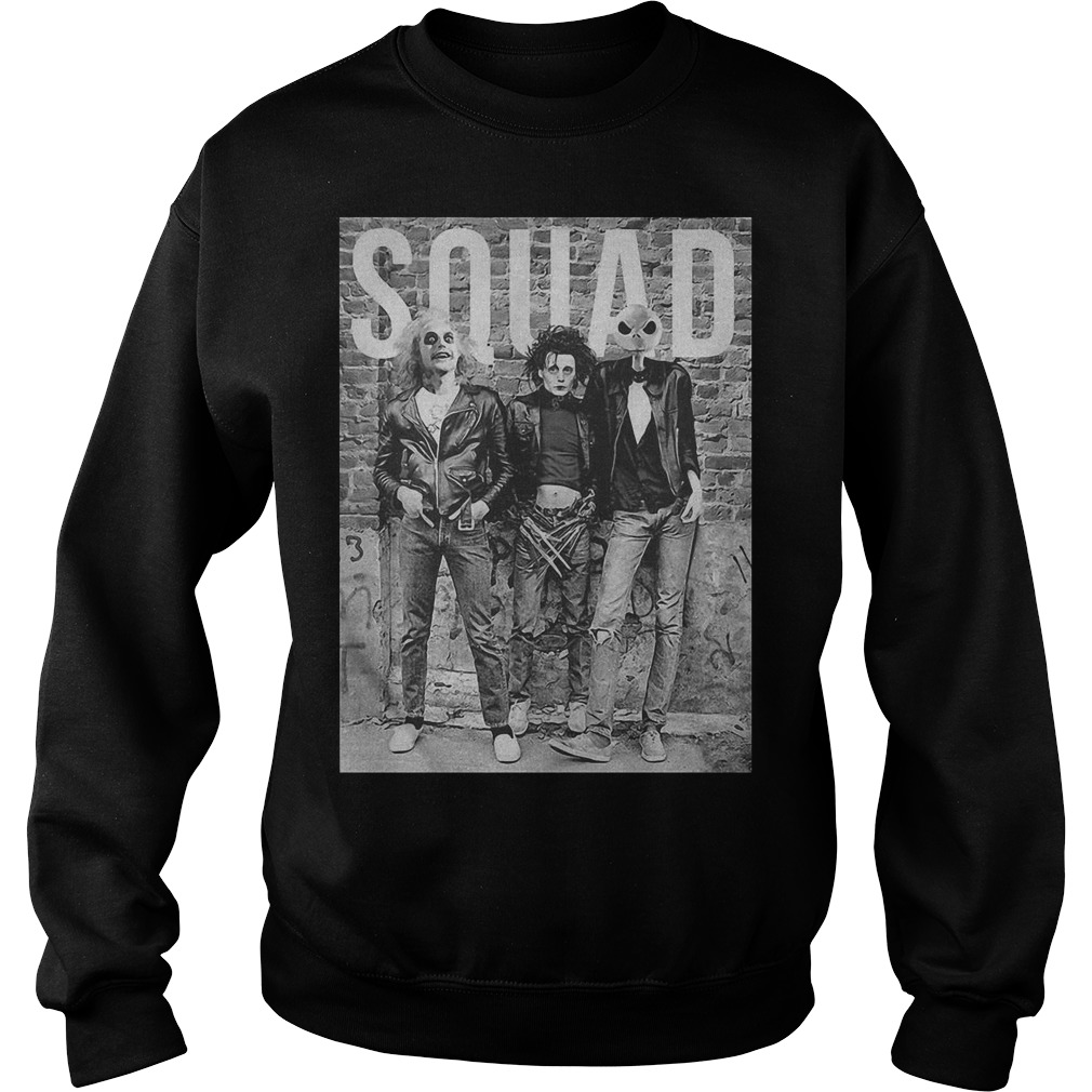 Beetlejuice Edward Scissorhands and Jack Skellington squad Sweater