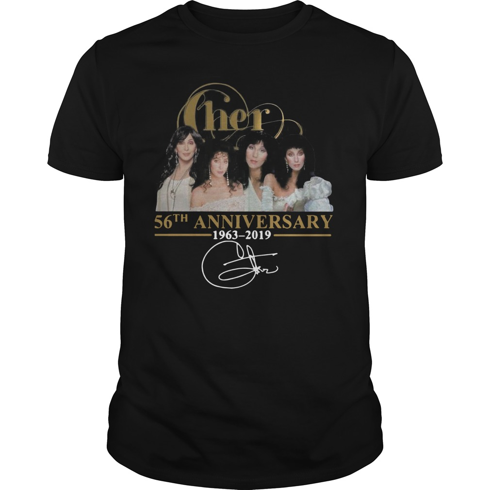 Cher 56th anniversary 1963 2019 signature Guys t-shirt