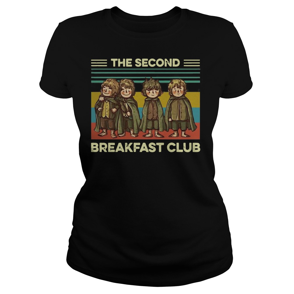The fellowship the second breakfast club vintage Ladies t-shirt