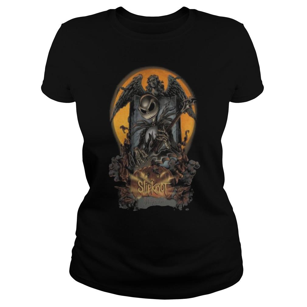 Halloween Jack Skellington slipknot Ladies t-shirt