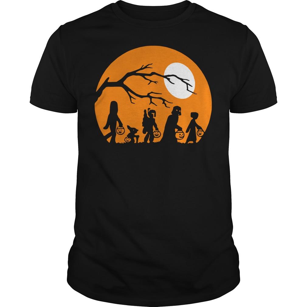Halloween trick or treat star wars moon Guys t-shirt
