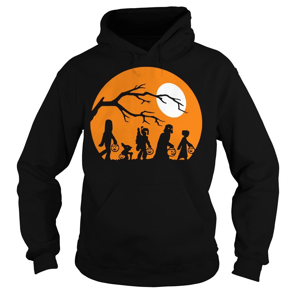 Halloween trick or treat star wars moon Hoodie