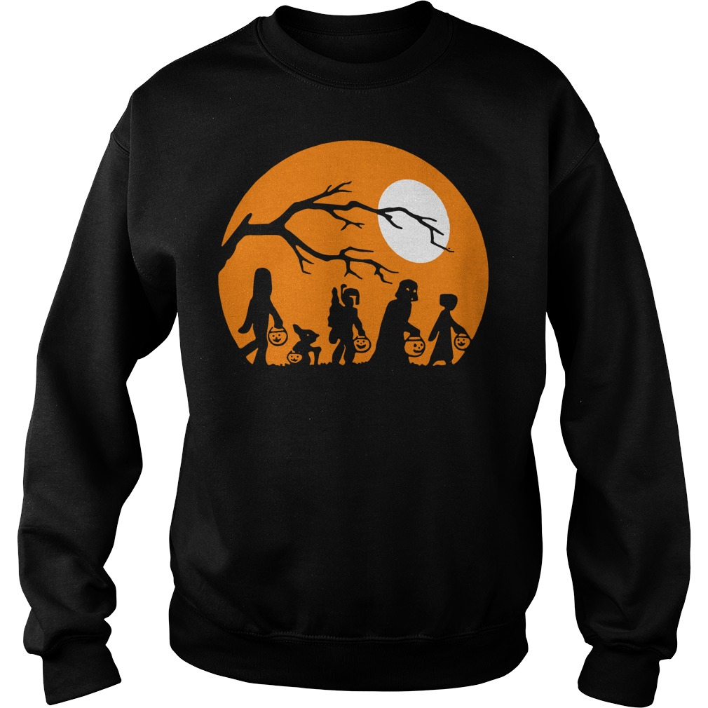 Halloween trick or treat star wars moon Sweater
