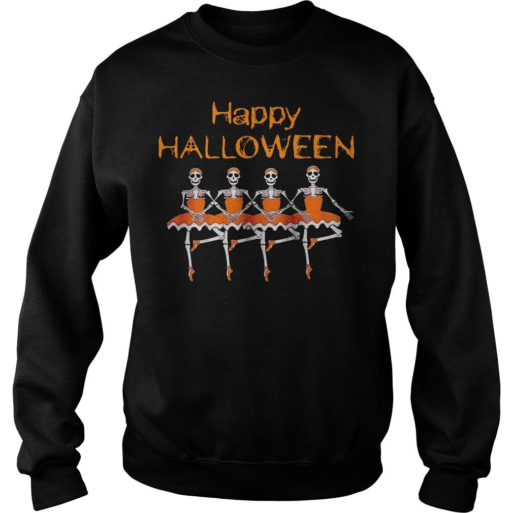 Happy Halloween Skeleton Ballet Sweater