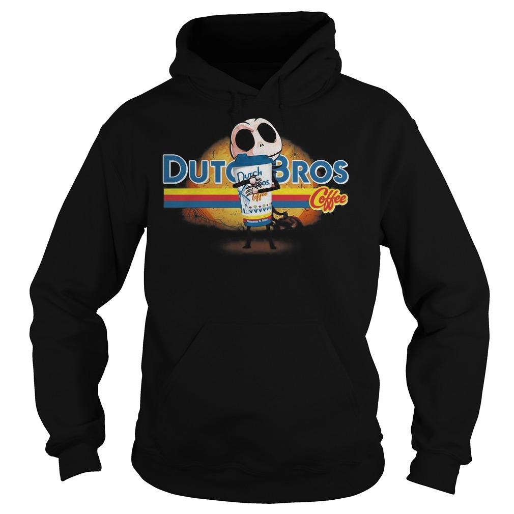 Jack Skellington hug Dutch Bros coffee Halloween Hoodie