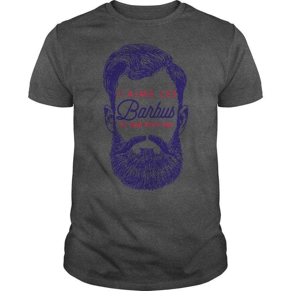 J'aime Les Barbus et leur petit cul Guys t-shirt