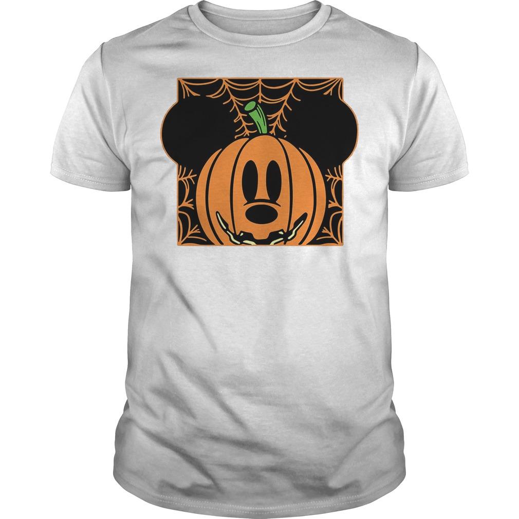 Mickey mouse pumpkin head Guys t-shirt