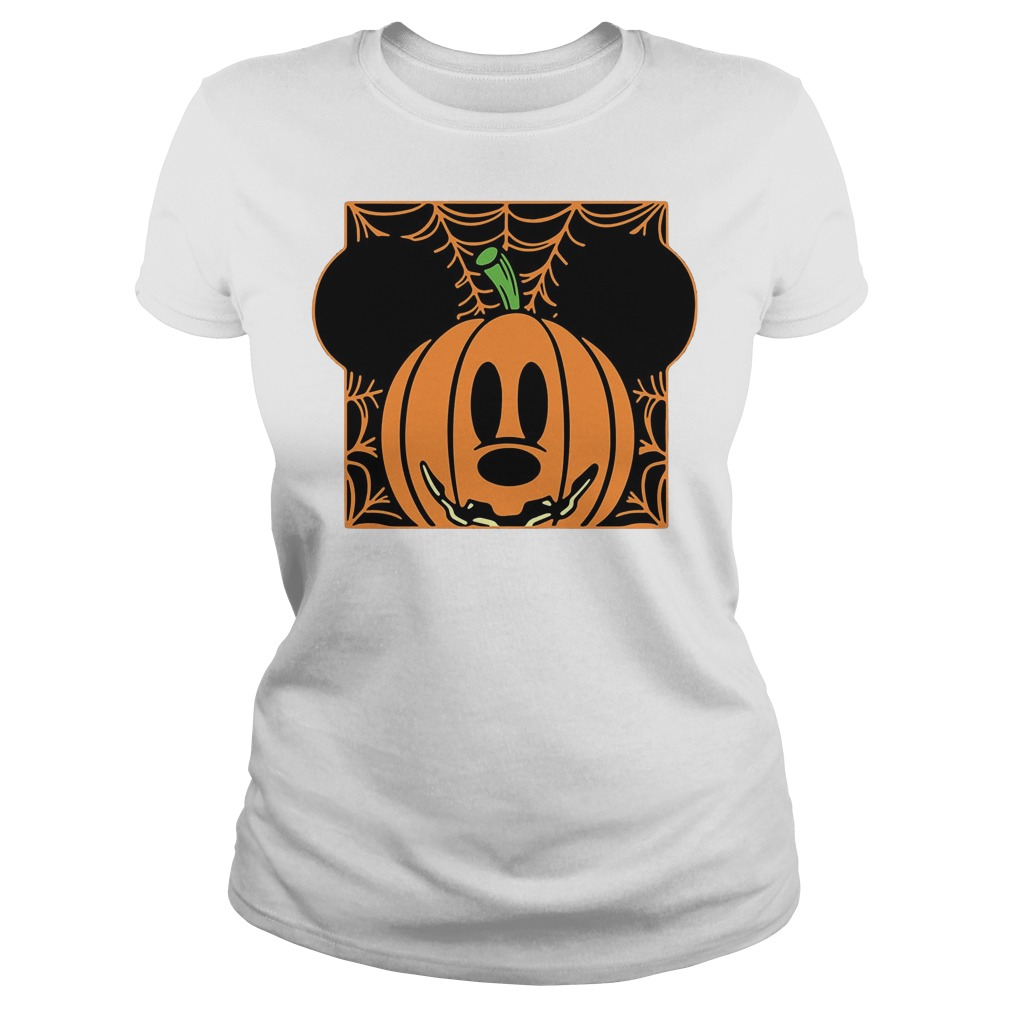 Mickey mouse pumpkin head Ladies t-shirt