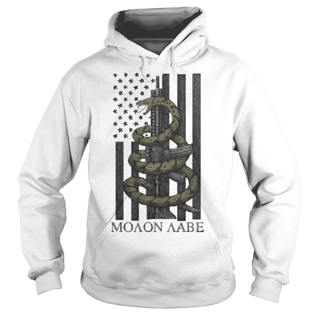 Nice Gadsden Snake Moaon Aabe American flag Hoodie