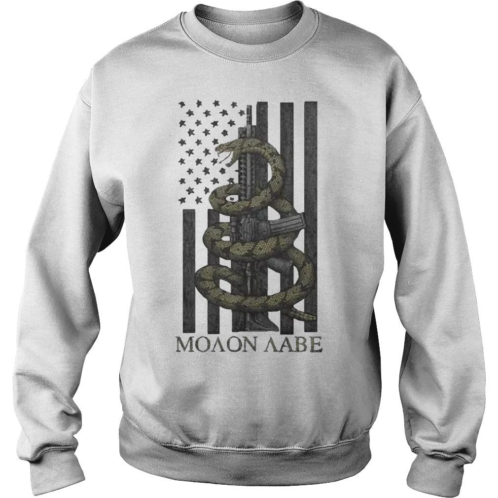 Nice Gadsden Snake Moaon Aabe American flag Sweater