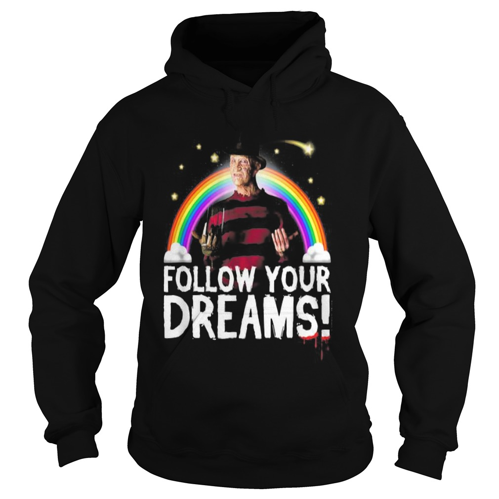 Nightmare elm street follow your dreams rainbow Halloween Hoodie