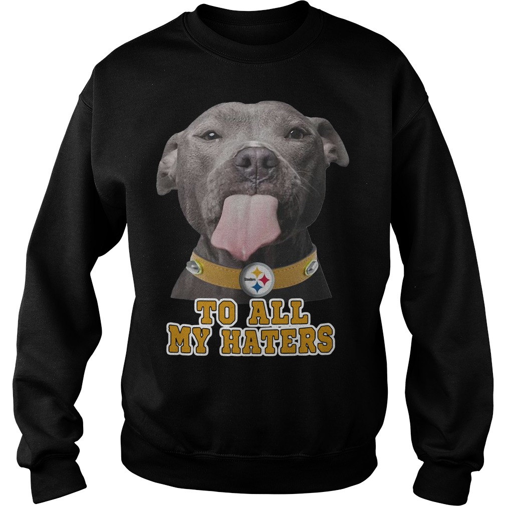 Pitbull to all my haters Pittsburgh Steelers Sweater