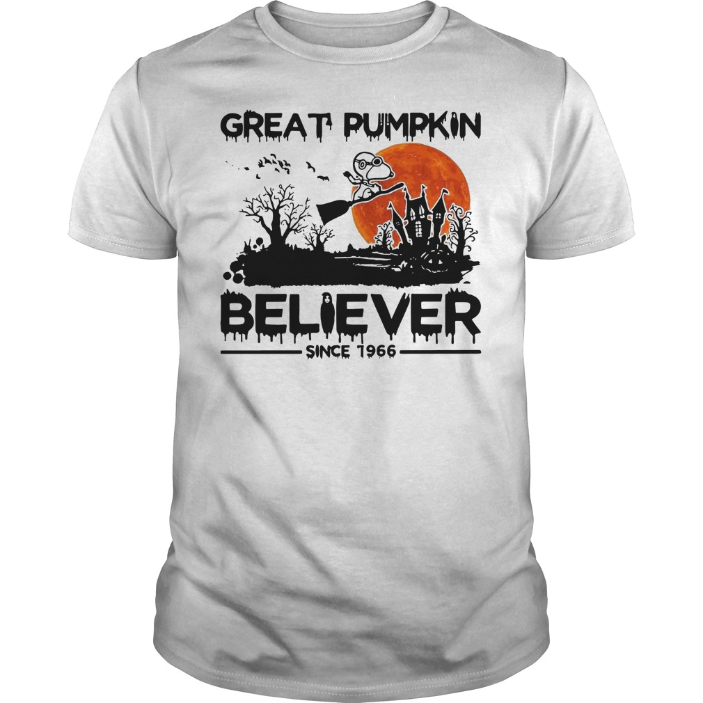 Snoopy great pumpkin believer since 1966 Halloween Guys t-shirt
