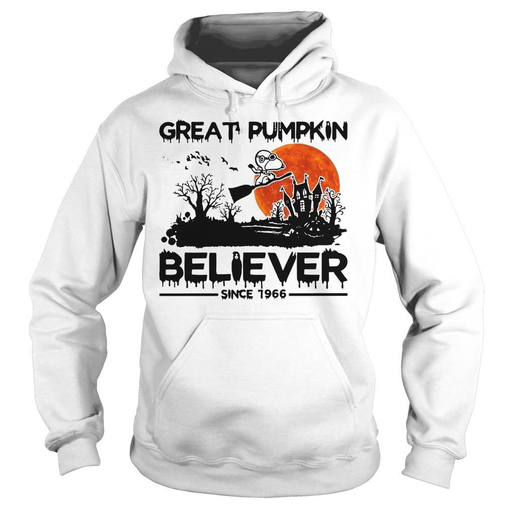 Snoopy great pumpkin believer since 1966 Halloween Hoodie