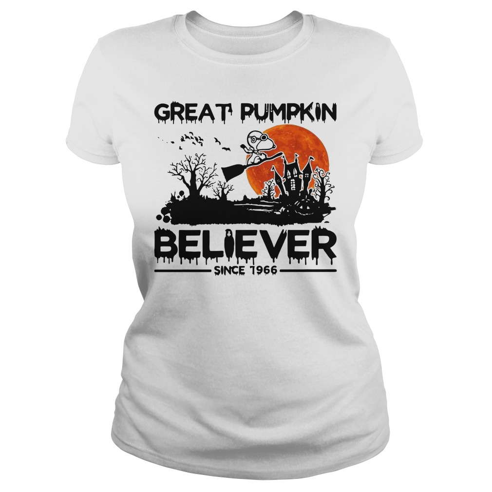 Snoopy great pumpkin believer since 1966 Halloween Ladies t-shirt