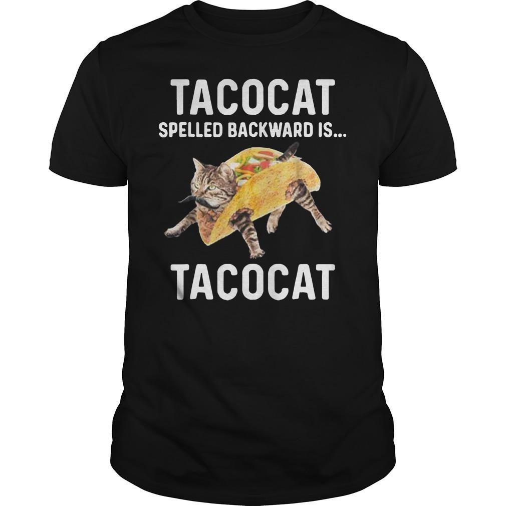 Tacocat spelled backward is Tacocat Guys t-shirt