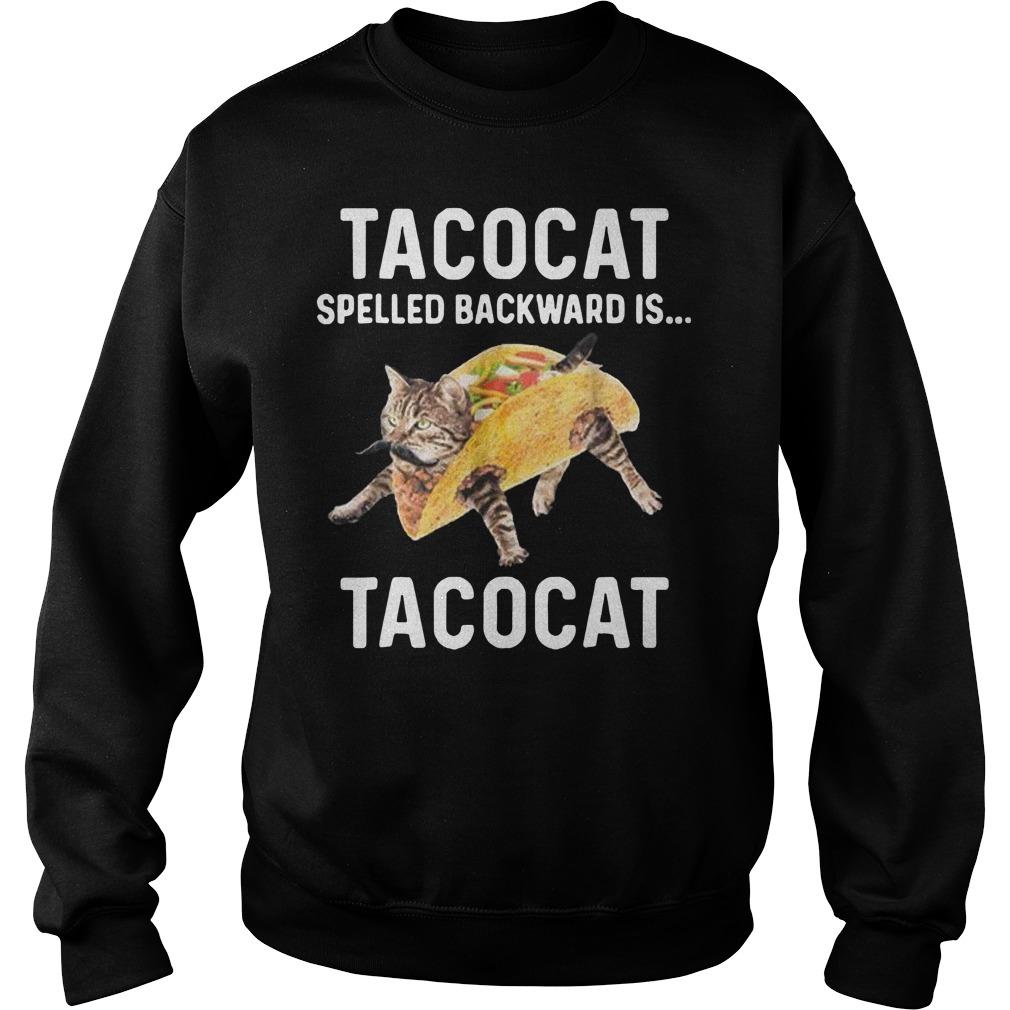 Tacocat spelled backward is Tacocat Sweater