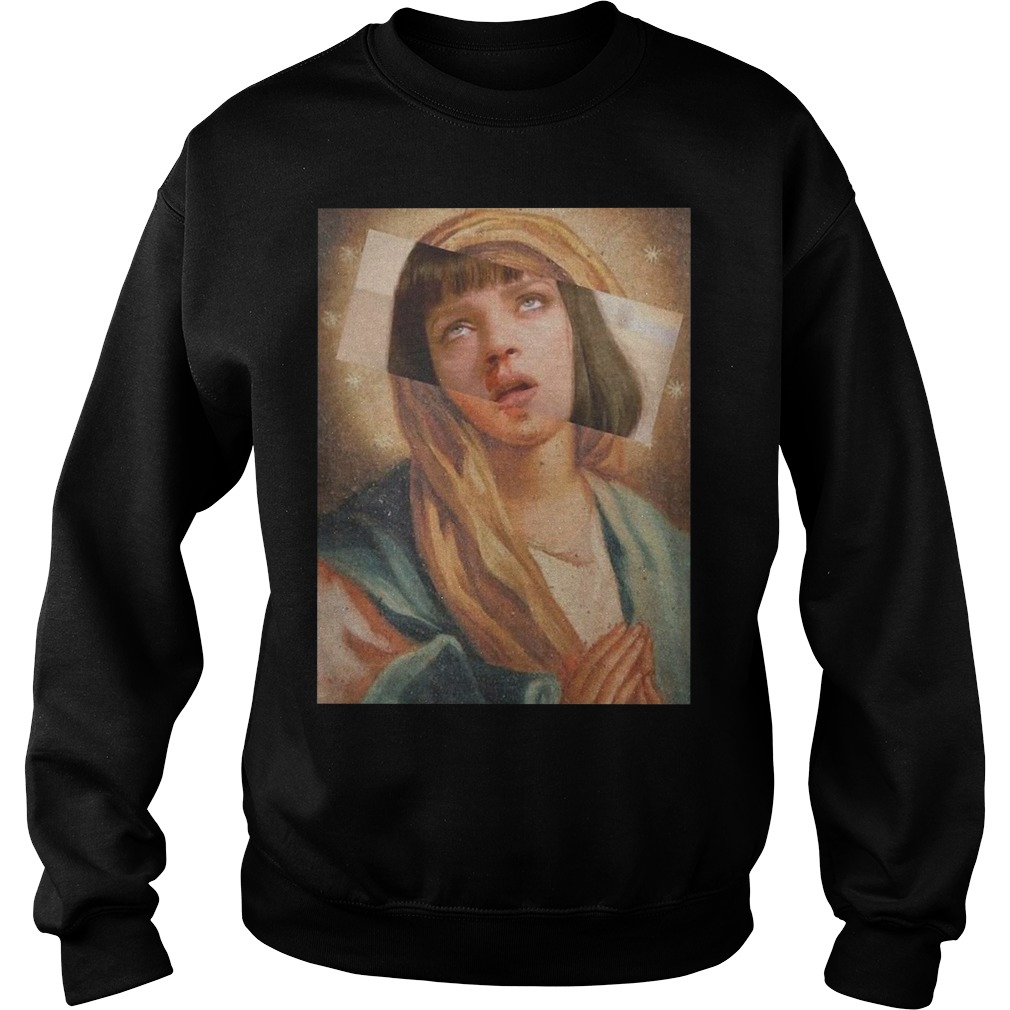 Virgin Mary mixed pulp fiction Sweater