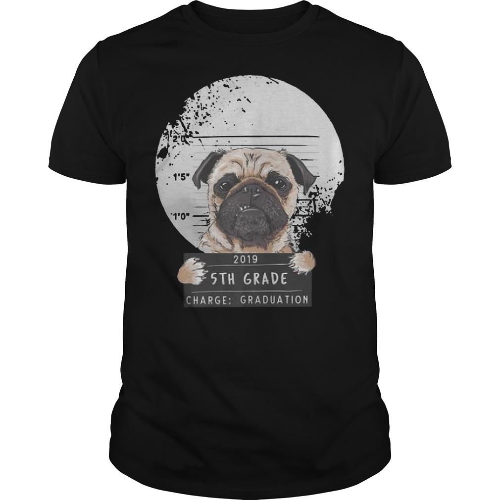 5th Grade 2019 Bad Puggy Pug Charge Graduation Premium Guys t-shirt